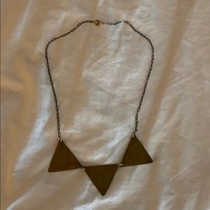 Madewell triangle necklace
